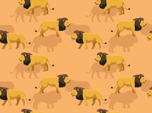 Free Male Lion Walking Cartoon Vector Seamless Background Wallpaper-01 Stock Photography - 183817692