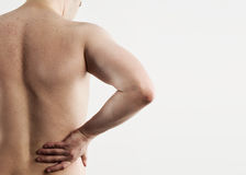 Male loin pain Royalty Free Stock Image