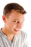 Male looking at a glance Royalty Free Stock Image