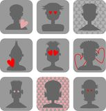 Male Love Icons Stock Photography