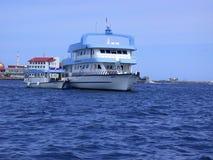 MALE, MALDIVES - AUGUST 30, 2003: Sail yacht closeup. Indian Oce. MALE, MALDIVES - AUGUST 30, 2003: Sail yacht closeup in Male, Maldives - August 30, 2003 Stock Photography
