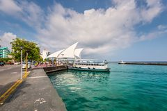 Presidential Jetty in Male island. Republic of the Maldives. Royalty Free Stock Photos
