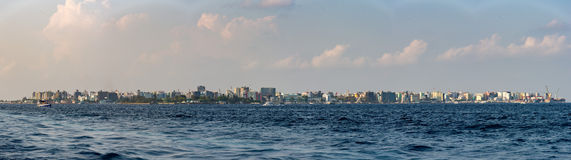 Male maldives panorama landscape Stock Photography