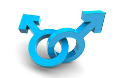 Male and Male gender symbol Stock Images