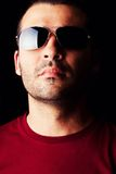 Male man with dark shades Royalty Free Stock Photo