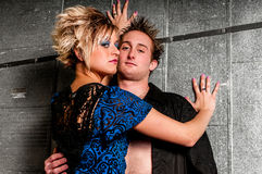 Male / Man and Female / Woman Fashion Model couple Royalty Free Stock Images