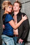 Male / Man and Female / Woman Fashion Model couple Royalty Free Stock Photos