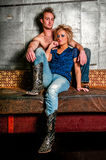Male / Man and Female / Woman Fashion Model couple Royalty Free Stock Photography