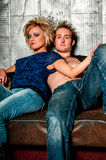 Male / Man and Female / Woman Fashion Model couple Royalty Free Stock Photo
