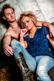 Male / Man and Female / Woman Fashion Model couple Stock Photo