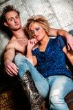 Male / Man and Female / Woman Fashion Model couple Stock Photo
