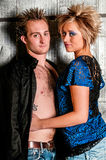 Male / Man and Female / Woman Fashion Model couple Stock Images