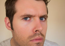 Male man looking straight into the camera Stock Photography