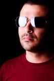 Male man med mörka kupor Fotografering för Bildbyråer