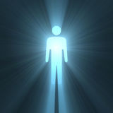Male man symbol glowing light flares Stock Photography