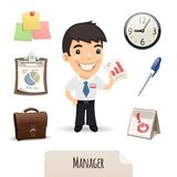 Male Manager Icons Set. In the EPS file, each element is grouped separately. Isolated on white background. JPG with paths Royalty Free Stock Photography