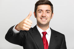 Male manager thumbs up Stock Images