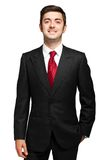 Male manager on white background. Young male manager on white background royalty free stock images
