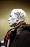 Male manikin. Profile of male manikin in shop Royalty Free Stock Images