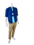 Male mannequin. Dressed in casual clothes isolated on white background Royalty Free Stock Photos