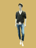 Male mannequin dressed in jacket and jeans Stock Photo