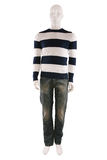 Male mannequin dressed in sweater and jeans Royalty Free Stock Image
