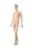 Male mannequin | Isolated. Detailed male mannequin. Isolated on white background Royalty Free Stock Photography