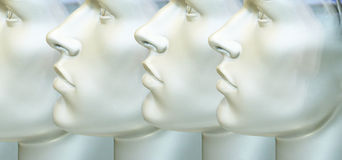 Male Mannequin's Heads Texture Royalty Free Stock Image