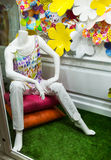 Male mannequin sitting Stock Image