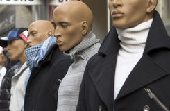 Male mannequin in the street Royalty Free Stock Images