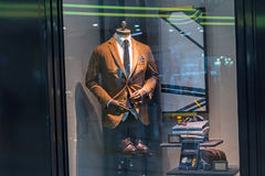 Male mannequin wearing a suit and accessories Stock Photography