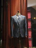Male mannequin wearing a suit and accessories Stock Photos