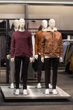 Men`s fashion store, casual clothing collection Stock Images