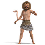 Male manticore fantasy creature Royalty Free Stock Photos