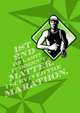 Male Marathon Runner Retro Poster Stock Photos
