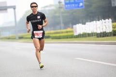 Male marathon runner Stock Images