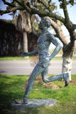 Male marathon runner statue Stock Image
