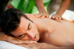 Male Massage Royalty Free Stock Photography