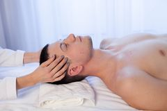 Male masseur doing Massage Spa health. 1 Royalty Free Stock Photography