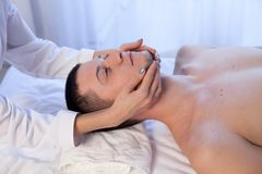Male masseur doing Massage Spa health. 1 Royalty Free Stock Image