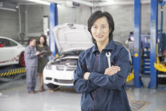 Male Mechanic in Auto Repair Shop Royalty Free Stock Images