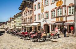 Male medievale storico Tolz della città bavaria immagini stock libere da diritti