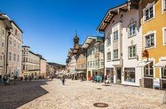 Male medievale storico Tolz della città bavaria immagine stock libera da diritti