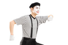 Male mime artist Royalty Free Stock Photo