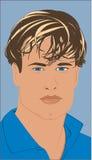 Male Model. Model type man wearing a blue shirt Royalty Free Stock Photo