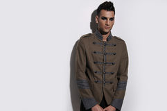 Male Model. In Milatary style jacket Stock Photo