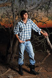 Male Model. Outdoor portrait of young good looking male model Royalty Free Stock Images