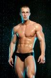 Male model in aqua studio Stock Photo