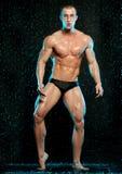 Male model in aqua studio royalty free stock images
