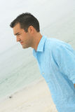 Male model at the beach side angle Stock Image
